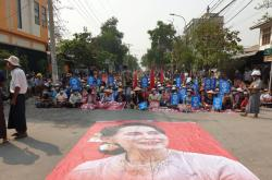 Demonstrace v Myanmaru