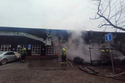 Požár hangáru na Točné