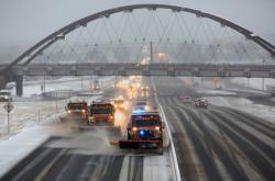 Silné sněžení v Denveru