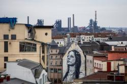 Pohled na Dolní Vítkovice z centra Ostravy