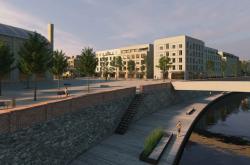 Vizualizace nové čtvrti v místě bývalého cukrovaru v Břeclavi