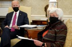 Americký prezident Joe Biden a ministryně financí Janet Yellenová