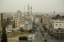 Palestinské město Gaza