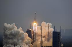 Start rakety Dlouhý pochod 5B na konci dubna 2021