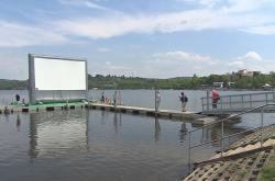 Nafukovací kino na Brněnské přehradě