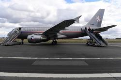 Vládní speciál na ruzyňském letišti
