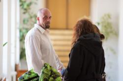 Lukáš Pulkert u šumperského okresního soudu v říjnu 2019