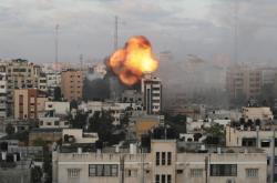 Následky izraelských náletů ve městě Gaza