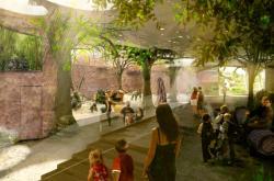 Vizualizace pavilonu goril v pražské zoo
