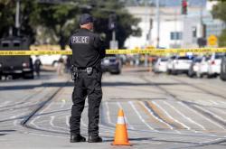 Policie u místra střelby