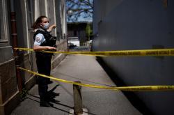 Zóna, kde byla vážně zraněna policistka