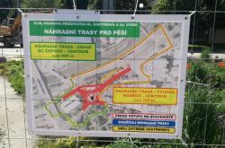 Uzavírka pro dopravu i pěší ve Zlíně