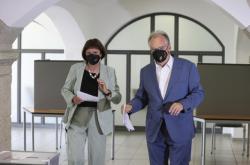 Sasko-anhaltský premiér Reiner Haseloff (CDU) při zemských volbách