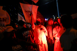 Příznivci mexické strany Morena v ulicích města Ciudad Juárez