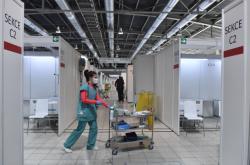 Záložní nemocnice na výstavišti v Brně