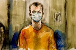 Obžalovaný Nathaniel Veltman u soudu