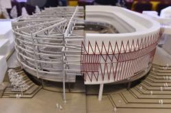 Model nové multifunkční arény v Jihlavě