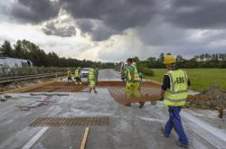 Oprava poškozené dálnice D35 mezi Velkým Újezdem a Přáslavicemi