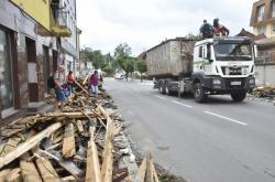 Následky bouře v Luhačovicích