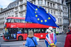 Demonstrace proti brexitu u příležitosti pětiletého výročí rozhodnutí Británie