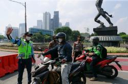 Policejní kontrola v Indonésii