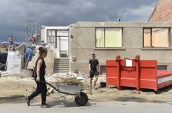 Odstaňování škod v Moravské Nové Vsi
