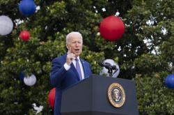 Prezident Biden při projevu ke Dni nezávislosti