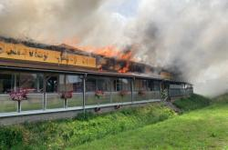 Požár jídelny v Kostelci nad Labem
