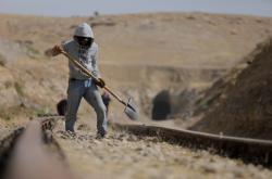 Oprava železnice v Mosulu