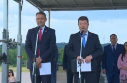 Radim Fiala a Tomio Okamura na zahájení kampaně SPD