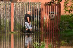 Zaplavený Dobranov nedaleko České Lípy