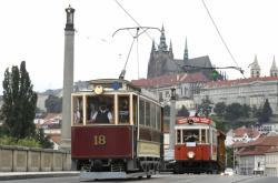 Jízda historických tramvají po Praze