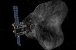 Těžba na asteroidu, ilustrační foto