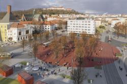 Vizualizace opraveného Mendlova náměstí v Brně
