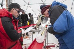 Odběr virů z ledovcových jader