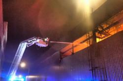 Likvidace požáru hasiči v Břidličné