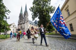 Pietní průvod k uctění památky Václava III. v Olomouci