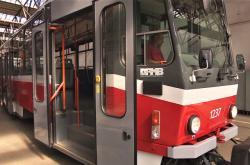 Pražské tramvaje v brněnském depu