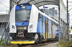 Vlak RegioPanter na testovací dráze společnosti Škoda