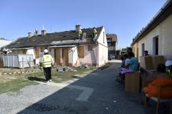 Račín v roce 2018, kdy začala demolice prvních domů