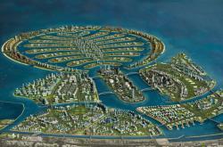 Projekt zeleného ostrova v Dubaji, vizualizace