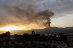 Požár v alžírské provincii Bidžája