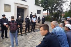 Pravoslavný chrám v Brně hlídá policie