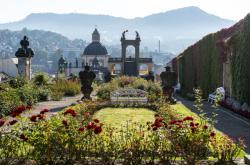 Děčínská Růžová zahrada s barokním glorietem