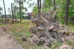 Poničený areál hodonínské zoo (13. července 2021)