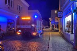 Zásah hasičů po výbuchu domu v Litovli