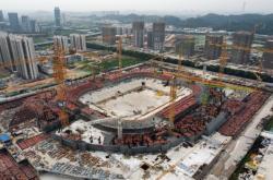 Stadion v Kuang-čou, který staví Evergrande