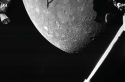 Snímek Merkuru pořízený misí BepiColombo
