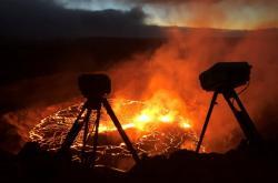 Vědci z  Havajské vulkanické observatoře (HVO) monitorují aktivitu sopky Kilauea v národním parku Hawaii na Havaji již několik let. Snímky uakzují aktivitu vulkánu v rozmezí 29. září až 3. října 2021