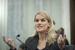 Frances Haugenová během slyšení v americkém Senátu